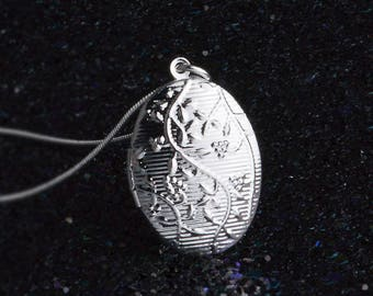 Door 925 silver plated Photo Pendant Necklace