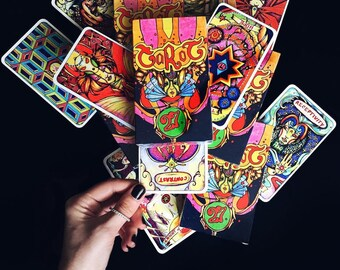 Illusori Tarot Deck - Spiritual Tarot Reading Cards - 78 Alchemy Tarot Cards with Card Box, Spiritual gift, Divination 78 Cards Deck, Gypsy