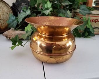 Medium Brass Spittoon Vintage Home Decor Man Cave  #11