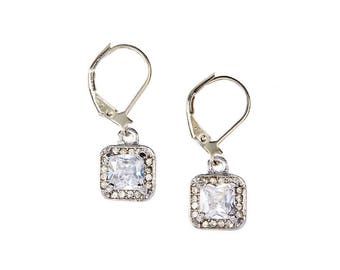 Ever After Crystal Earring - White Gold