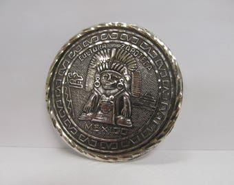 Vintage Sterling Mexican Cultural Pin W #846