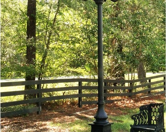 Outdoor 5 Arm 12' Tall Pole Light Victorian Replica Vintage Commercial or Home
