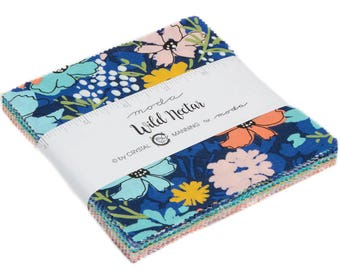 """Wild Nectar - Crystal Manning - Moda - 42 Pieces - 5"""" Squares - Charm Pack - 11800PP"""