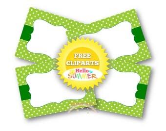 Green Food Labels Candy Buffet Labels St Patricks Labels Editable Labels Printable Labels Green Labels Green Polka Dots Labels  PK_DL448