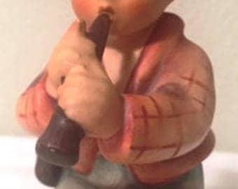 """Vintage TMK-4 """"Little Tooter"""" Goebel MI Hummel figurine"""