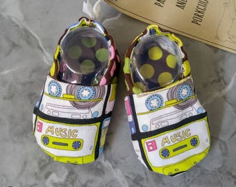Baby  Kicks - Mixtape (baby shoes, baby mocs, baby booties, baby shower gift, mixtape baby, hipster baby)