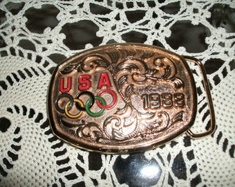 Official 1988 USA Olympic Belt Buckle