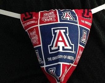 New Men's UNIVERSITY OF ARIZONA Gift Gstring Thong Male Lingerie Underwear