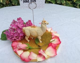 Llama table number photo memo holder