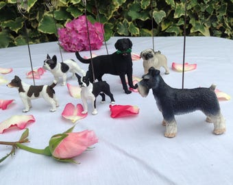 Dog Table number holders selection of six dogs