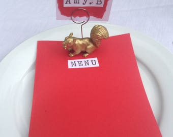 gold animal place card holders table number holders forest native animals 10 animals