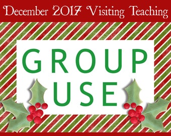 GROUP USE: December 2017 Visiting Teaching Printable Kit, Instant Download