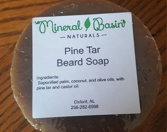 Pine Tar Beard Soap - VEGAN