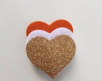 Layered Hearts Clip