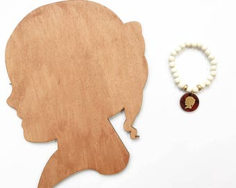 Custom Silhouette Package - Custom Silhouette Cutout - Silhouette Charm Bracelet - Child Silhouette Jewelry - Custom Silhouette Cutout