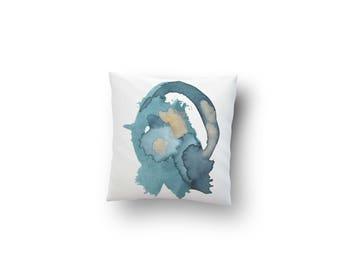 16x16 Accent Pillow, Modern Blue Pillow,  Abstract Home Decor, Throw Pillows,  Colorful Home Decor, Decorative Pillows