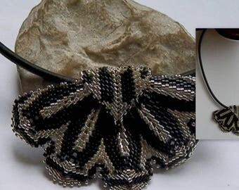 Black and silver woven necklace *.
