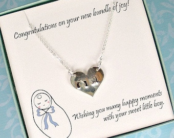Baby footprint necklace, Baby feet necklace, New mom necklace, New mom gift, Expecting mom gift, Baby shower gift, Mom gift, Mothers Day