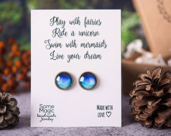 Aurora borealis earrings, motivational gift, best friend gift, birthday gift for women, gift for her, gift card, birthday jewelry