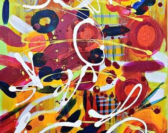 Original Abstract Art, 18x24 acrylic on canvas