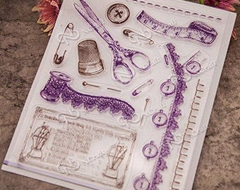 Sewing Clear Silicone Stamp
