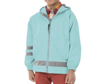 FREE SHIPPING Kids Monogrammed Jackets, Cyber Monday Deals, Rain Coats For Kids, Monogrammed Youth Rain Jacket, Girls Charles River