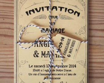 Wedding Invitation - The ROARING TWENTIES PARISIAN -