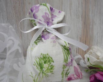 White Linen Bags. Floral Gift Bags. Small Favor Bags. Party Favor Bag. Burlap Linen Bags