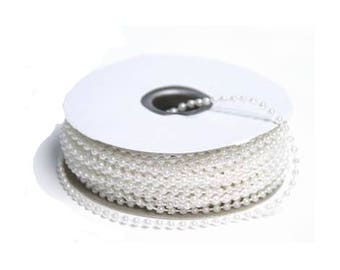 3 meters of white pearls 4 mm wire