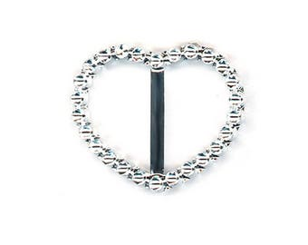 heart imitation rhinestones 20 mm with vertical bar