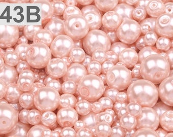 43-B - 100 g of 4-12 mm glass pearl beads different sizes