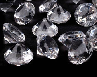 Lot of 45 diamonds transparent synthetic Crystal decoration