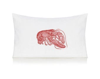 Red lobster pillow case, cushion, bedding, pillow cover
