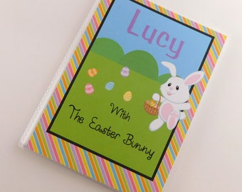 Easter Bunny Photo Album Baby 1st Holiday Egg Basket Hunt Boy Girl Personalized Brag Book 4x6 or 5x7 picture 820