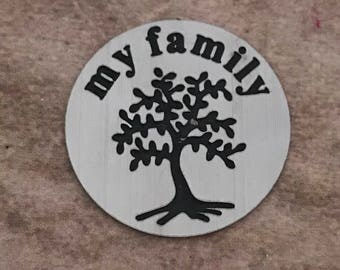 My Family floating locket plate