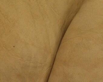 "Grunge Dark Sand Leather Oil Tanned Cowhide 4"" x 6"" Pre-cut 5-6 ounces DE-64594 (Sec. 3,Shelf 6,C,Box 1)"