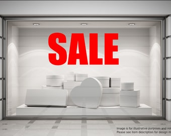 SALE NOW ON Shop Window Sticker Retail Display Discount Promo Vinyl Decal Graphic