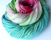 Pima cotton aran hand dyed yarn