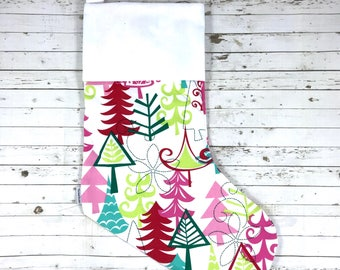Handmade high quality Christmas Stocking | HTV Blank | DIY stocking | Embroidery Blank | christmas trees| Ready To Personalise | designer