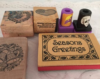 D069 Holidays rubber stamps