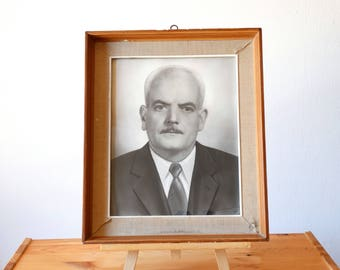 Old Man Portrait, Framed Photo, Framed Portrait, Photo Frame, Old Greek Photograph, Framed Photography, Framed Photograph, Photo Portrait