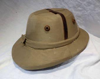 Pith Helmet, Safari Hat, Expedition Hat, Explorer's Hat, British Empire Colonial Salvage