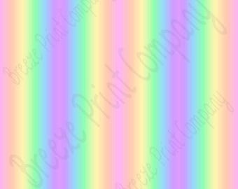 Pastel rainbow Ombre smaller print craft vinyl sheet - HTV or Adhesive Vinyl -  repeating fade gradient print vinyl spring colors HTV3128