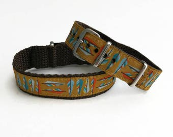 SALE! Embroidered Feathers Timex Weekender Replacement 16 mm or 20mm Watch Band,  SALE!
