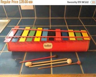 ON SALE Tudor Xylophone / Large 12 Key Toy / 1950-1960's