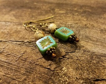 Boho Earrings, Beach Earrings, Picasso Earrings, Dangle Earrings, Turquoise Earrings