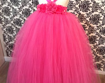 Pink Flower Girl Tutu Dress, Hot Pink Tutu Dress, Girls Pink Tutu Dress,  Flower Girl Tutu Dress, Hot Pink Flower Girl Tutu Dress, Pink Tutu