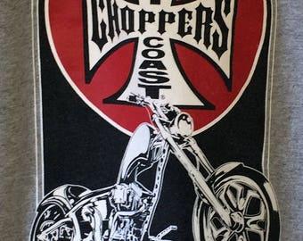 SZ 12/14 Youth T shirt West Coast Choppers Long Beach Motorcycles Short Sleeve