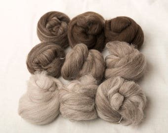 Merino gradient battling set for spinning or felting (170095)