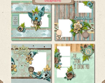 Difital Scrapbooking, Baby Boy Quick Page Set 1: You're My Lil' Boy